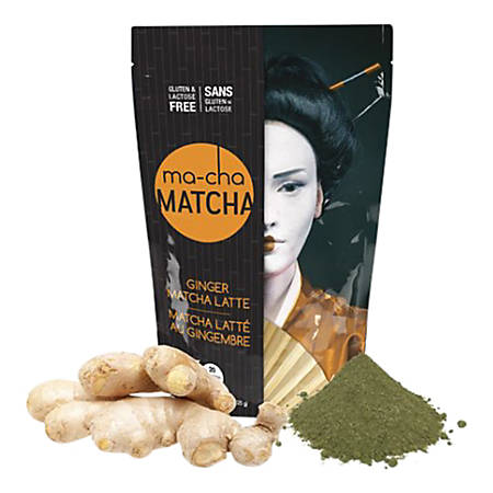 Ma-Cha Ginger Latte Mix, 7.9 Oz, 12 Per Box, Carton Of 6 Bags