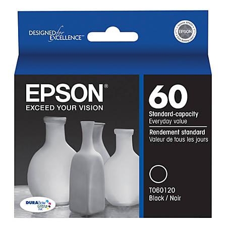 Epson® 60, (T060120-S) DuraBrite® Ultra Black Ink Cartridge