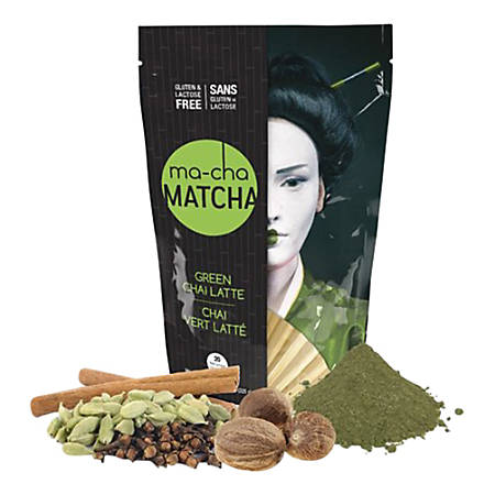 Ma-Cha Green Chai Latte Mix, 7.9 Oz, Pack Of 6 Bags