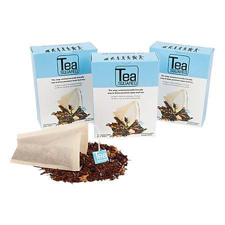 Tea Squared Paper Tea Bag Filters, Natural, 100 Filters Per Box, Pack Of 12 Boxes