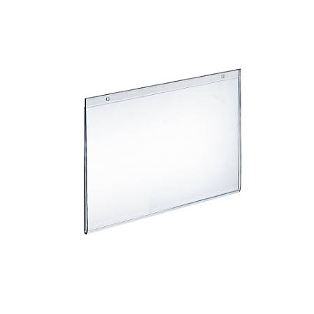 """Azar Displays Wall-Mount U-Frame Acrylic Sign Holders, 9"""" x 12"""", Clear, Pack Of 10"""