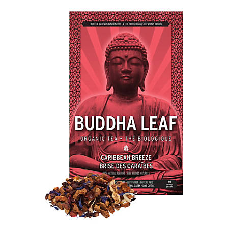 Tea Squared Buddha Caribbean Breeze Organic Loose Leaf Tea, 2.8 Oz, Pack Of 3 Bags