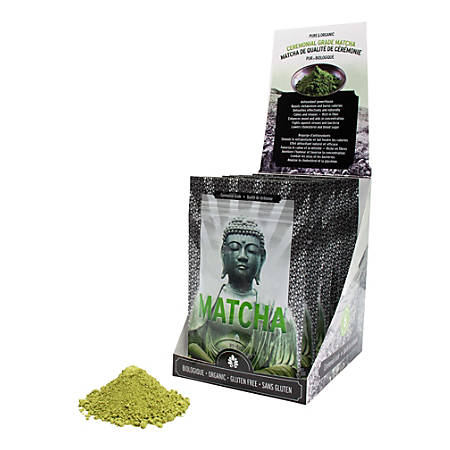 Matcha Ceremonial Grade Organic Tea, 1.4 Oz, Carton Of 3 Bags