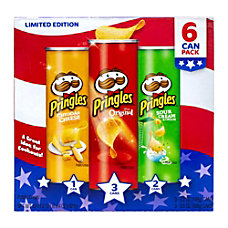 Pringles Red White Blue Potato Crisps
