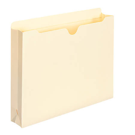 """Smead® Expanding File Jackets, Letter Size, 2"""" Expansion, 100% Recycled, Manila, Box Of 50"""