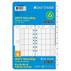 Day Timer 2 Page Per Month