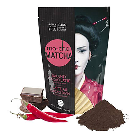 Ma-Cha Naughty Chocolate Latte Mix, 7.9 Oz, 12 Per Box, Carton Of 3 Boxes