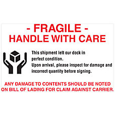 Tape Logic Preprinted Pallet Protection Labels