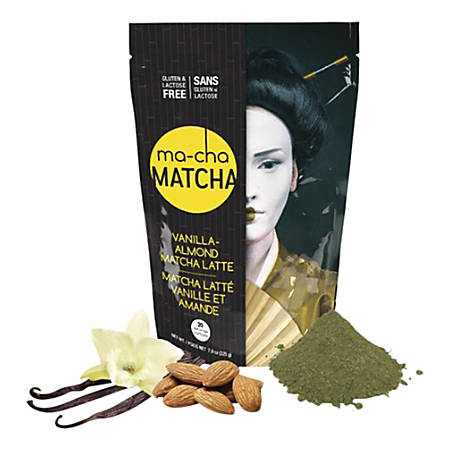 Ma-Cha Vanilla Almond Latte Mix, 7.9 Oz, 12 Per Box, Carton Of 3 Boxes