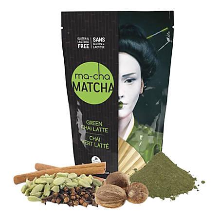 Ma-Cha Green Chai Latte Mix, 7.9 Oz, Pack Of 3 Bags