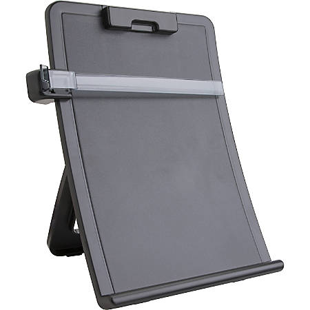"Sparco Curved Design Easel Document Holder - 10"" x 2.5"" x 14.4"" - 1 Each - Black"