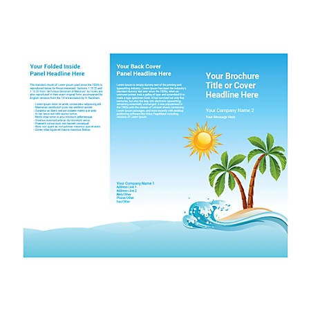 Customizable Trifold Brochure, Island