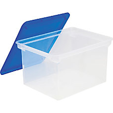 Storex Plastic File Tote Storage Box