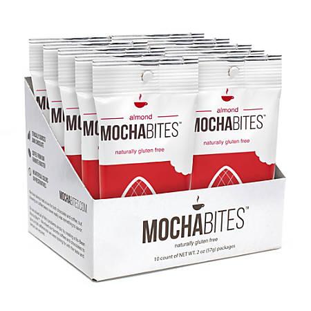 Mocha Bites Almond Bites, 2 Oz, Box Of 10 Pouches