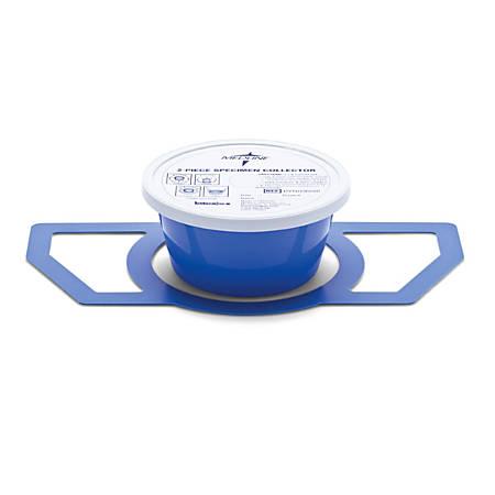 Medline Specimen Collector Pans, 2 Pieces, 1,200 mL, Blue, Pack Of 100