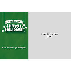 Flat Photo Greeting Card Happy Holidays