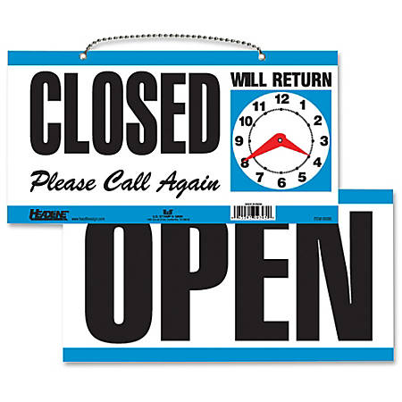 """U.S. Stamp & Sign """"Open/Closed"""" Sign, 6""""H x 11 1/2""""W"""