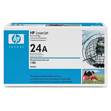 HP 24A, Black Original Toner Cartridge (Q2624A)