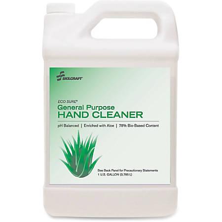 SKILCRAFT Bio-based Liquid Hand Soap - Linen Scent - 1 gal (3.8 L) - Hand - Clear - Bio-based, pH Balanced, Rich Lather, Moisturizing - 4 / Box