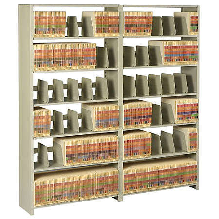 "Tennsco Add-On Unit For 88""H File Shelving Unit, Sand"