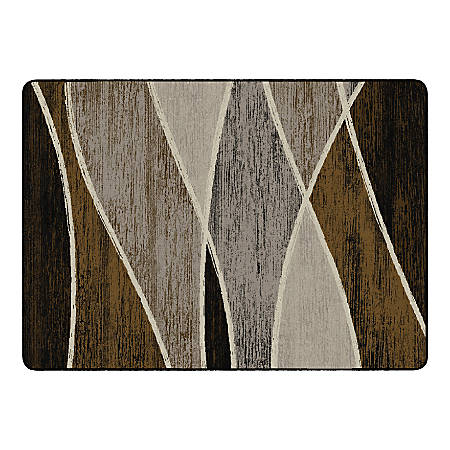 "Flagship Carpets Waterford Rectangular Area Rug, 72"" x 100"", Chocolate"