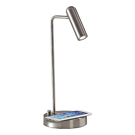 Adesso Kaye Wireless Charging Desk Lamp 16 12 H Brushed