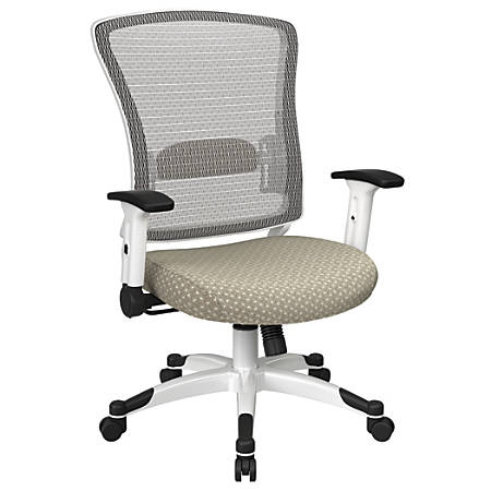 Office Star™ Space Seating Mesh Mid-Back Chair, Sandstone/White