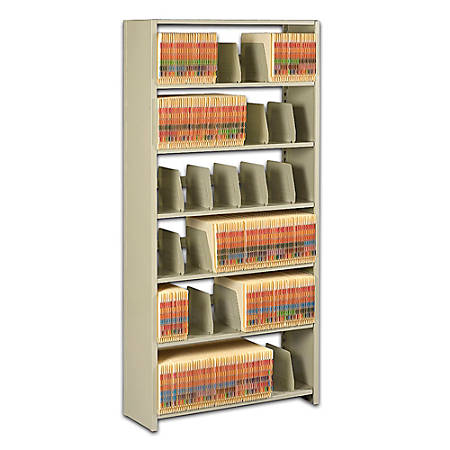 "Tennsco Snap-Together Open Shelving Unit, 76""H x 48""W x 12""D, Sand"