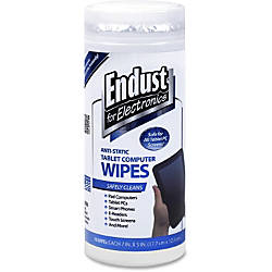 Endust Anti Static Tablet Wipes 70ct