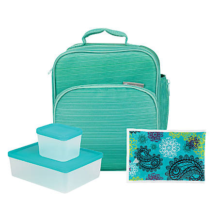 Bentology 4-Piece Lunch Kit, Turquoise