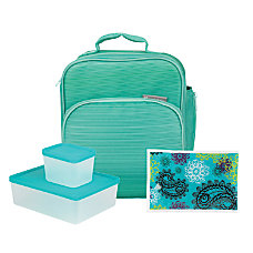 Bentology 4 Piece Lunch Kit Turquoise