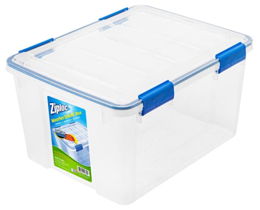 Ziploc Weathertight Storage Box 44 Qt 11 H x 15 45 W x 19 710 D