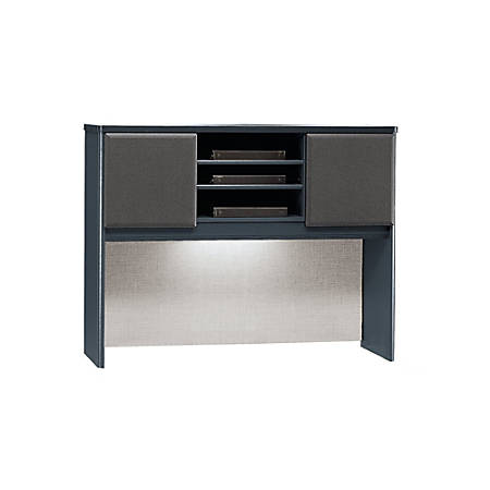 "Bush Business Furniture Office Advantage Hutch 48""W, Slate/Slate, Standard Delivery"