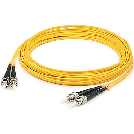 AddOn 10m ST (Male) to ST (Male) Yellow OS1 Simplex Fiber OFNR (Riser-Rated) Patch Cable