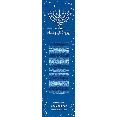 Vertical Banner Template, Blue Candles