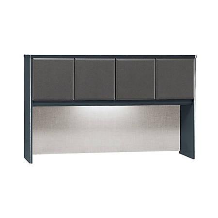 "Bush Business Furniture Office Advantage Hutch 60""W, Slate/Slate, Standard Delivery"