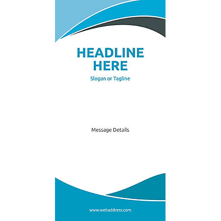 Custom Vertical Display Banner, Blue Curves