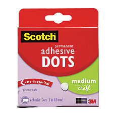 Scotch Permanent Adhesive Dots Medium Craft