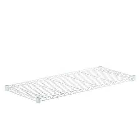 "Honey-Can-Do Powder-Coat Steel Shelf, 250-Lb Capacity, 1""H x 16""W x 36""D, White"