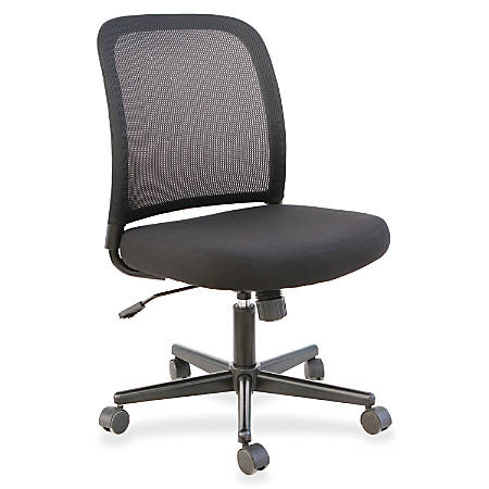 best sneakers 095b4 a783c Lorell® Mesh Back Armless Mesh/Fabric Task Chair, Black Item # 722306