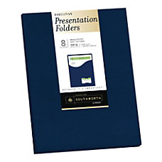 Southworth Professional Presentation Folders Single Pocket