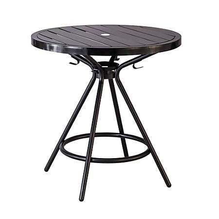 "Safco CoGo™ Outdoor/Indoor Round Table, 30"" Diameter, Black"