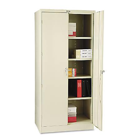 "Tennsco Deluxe Steel Storage Cabinet, 4 Adjustable Shelves, 78""H x 36""W x 24""D, Putty"