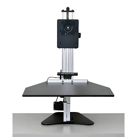 "Ergo Desktop Electric Kangaroo Pro Stand, 27 1/2""H x 28""W x 28""D, Black, Standard Delivery"