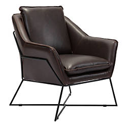 Zuo Modern Lincoln Lounge Chair BrownBlack