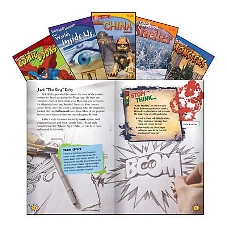 Teacher Created Materials TIME Informational Text Set, Set 2, Grade 6, Set Of 5 Books