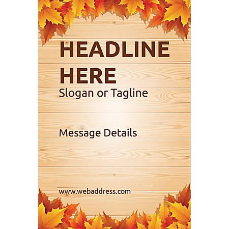 Custom Poster, Autumn Leaves, Vertical