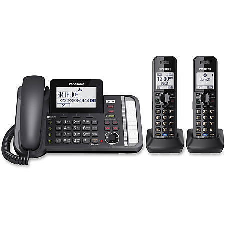 Panasonic Link2Cell KX-TG9582B DECT 6.0 Cordless Phone - Black