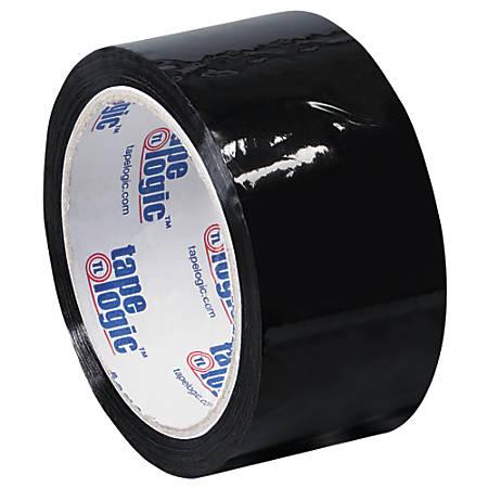 """Tape Logic® Carton-Sealing Tape, 3"""" Core, 2"""" x 55 Yd., Black, Pack Of 18"""