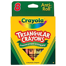 Crayola Triangular Crayons Box Of 8